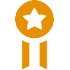 Award badge - orange icon